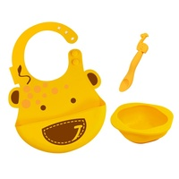 Silicone Children's Gift Set Lola Giraffe Yellow